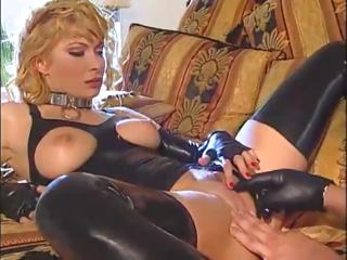 Porn Tube of Italian Blonde Latex Girl Fucked Hard