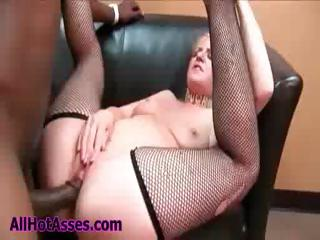 Porn Tube of Hot Ass Blonde Whore In Fishnet Stockings Gets Black Cock To Fuck Doggy Style