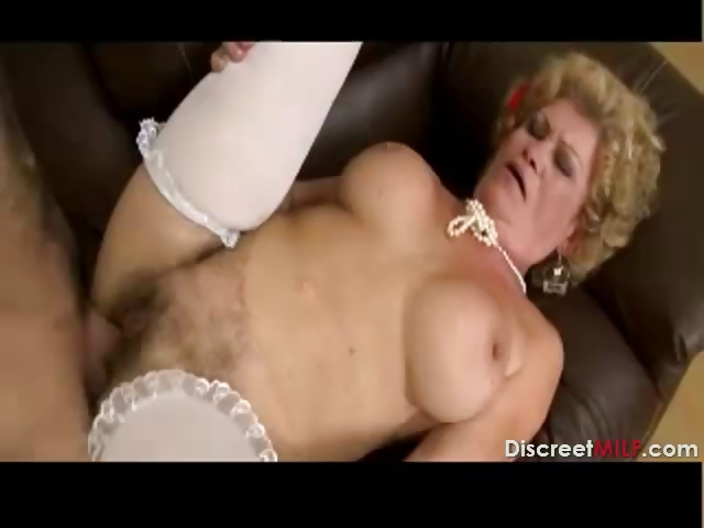 Porno Video of Hairy Grandma Wakes Up Young Guy