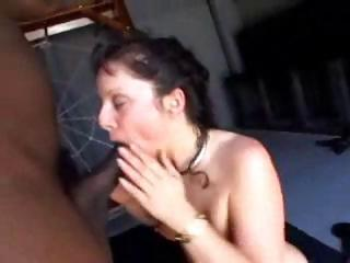 Sex Movie of A Submissive White Brunette Bitch Is Leashed Up And Has A Big Black Cock Unleashed On Her Pussy