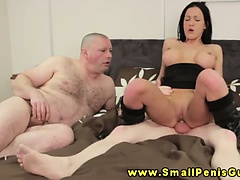 Busty sph femdom bitch makes fun of tiny dick dude | Big Boobs Update