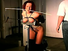 Beautiful redhead with beautiful tits gets tied and tortured | Big Boobs Update
