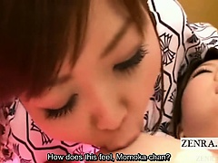 Subtitled japanese lesbians bizarre group eating orgy | Big Boobs Update