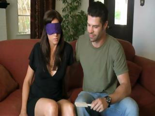 Porn Tube of Horny Hubby And Wayward Wife Get Blindfolded Then Interviewed And The Fuck