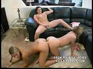Porn Tube of Lesbian Slumber Party