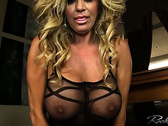 Busty rachel aziani rides the sybian sex machine | Big Boobs Update