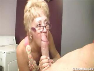 Porn Tube of Blonde Granny Teaches Her Young Grandson The Joys Of A Blowjob