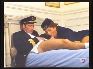 Porn Tube of Brunette Stewardess Maud Kennedy Eats The Pilot's Cock And Gets Banged