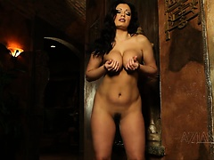Aziani aria giovanni gets naked and spreads her hairy pussy | Big Boobs Update