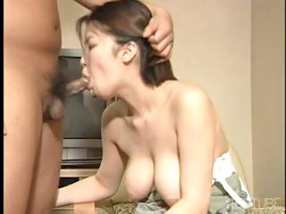 Sex Movie of Yummy Short-haired Japanese Brunette Gets Her Sweet Pussy Fucked Deep And Hard