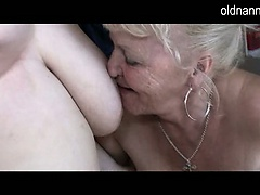 Two grannies and man have sex | Big Boobs Update