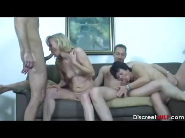 Porno Video of Mature Swingers Sex Party