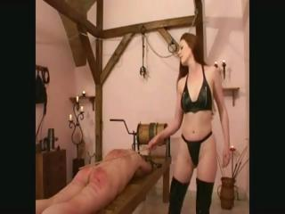 Porn Tube of Mistress Uses Her Slave And A Cane