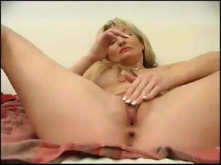 Porn Tube of Blonde Milf Sticks A Golf Ball In Her Ass