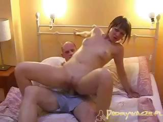 Porn Tube of Polish Brunette Is Getting Banged By A Digger And She Blows