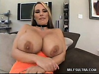 Blonde milf flashes her heavy breasts | Pornstar Video Updates