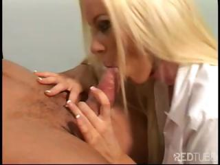Porn Tube of Busty Blonde Nurse Gives This Stud A Nice Treatment And Fucks