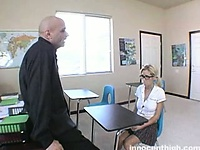 Pretty nerdy blonde schoolgirl about to get have sexual intercourse | Pornstar Video Updates