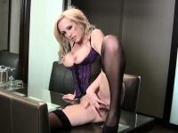 Brett looking hot in purple lingerie | Pornstar Video Updates