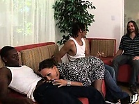 Wife make love by two black cocks while he watches | Pornstar Video Updates