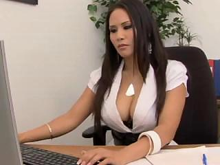 Sex Movie of Big Breasted Asian Gets Her Papers Filled