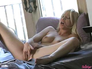 Porn Tube of Sexy Pale Blonde Playing