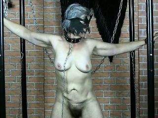 Kinky old granny gets her tits