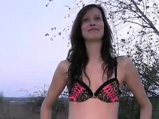 Hot ass tall brunette babe fucked outdoor