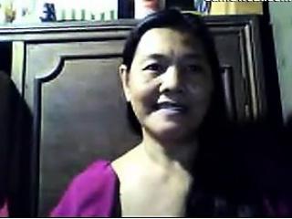 Naughty Grandma Flashing Her Tits