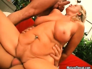 Some old slut feels to horny for young dick stuffing