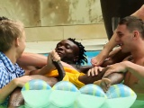 Interracial bisex blowjob orgy
