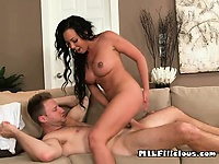 He lifts her legs up as he pounds from the front | Pornstar Video Updates