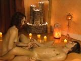Sensual Lingham Handjob Massage From Brunette MILF