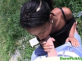 Picked up babes outdoor hardcore POV