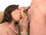 Asian Mother Sucking Cocks