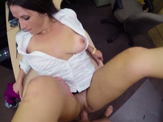 Hot chick gets his dick hard