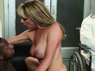 After being wheeled into the room like the sissy cuckold he
