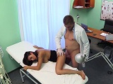 Doctor rubs huge tits of patient in fake hospital
