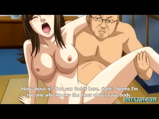 Porn Tube of Busty Japanese Hentai Hot Riding Her Boss Cock