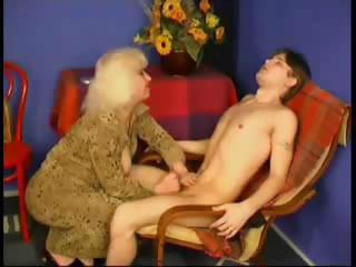 Porn Tube of Old Mom Spanks Him And Then Fucsk Him