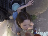 Picked up Russian babe banged outdoors