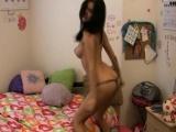 Amateur Girlfriend In Lingerie Strips Sexy Dance