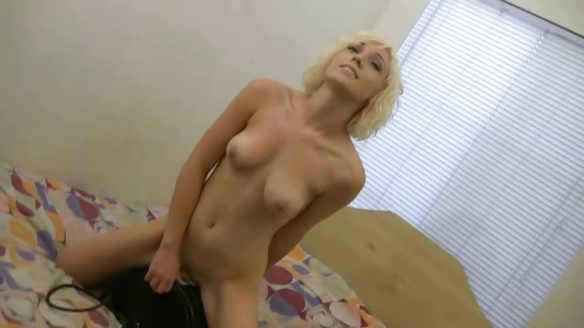 Porno Video of Amateur Blonde Lily Riding The Symbian At Home