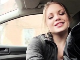 Beautiful stranded teen Alessandra Jane banged in the car
