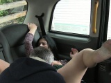 British amateur babe cunt licked in taxi on hidden cam