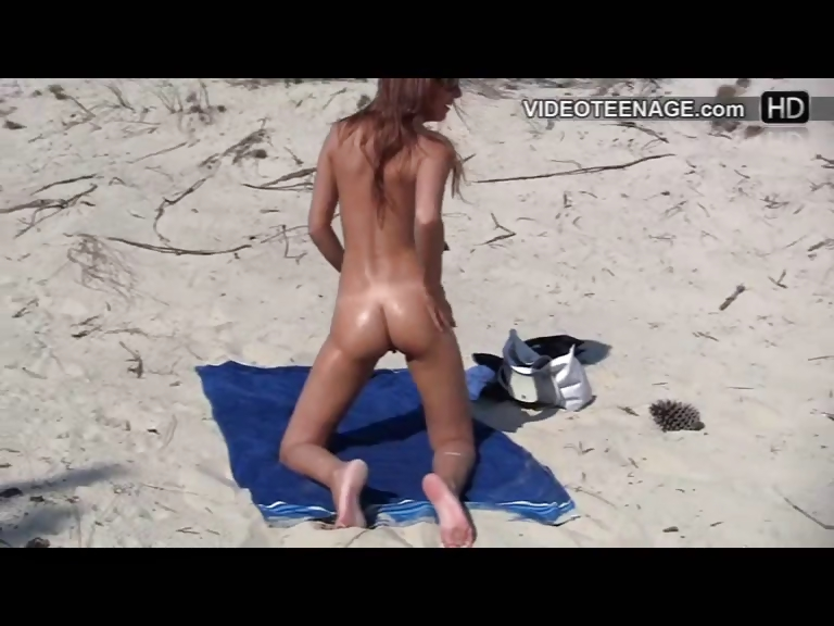Porn Tube of Nudist Teen At Beach