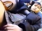 Asian Played With In Public On A Bus