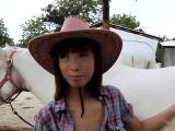 Beautiful cowgirl rides a hard cock