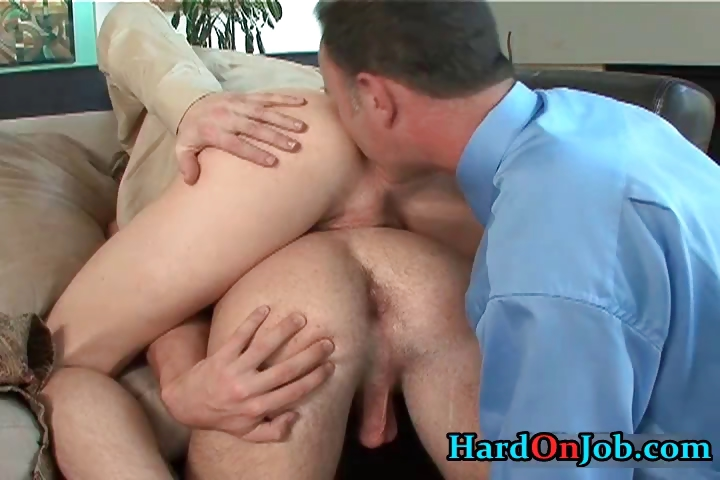 Porn Tube of Horny Gay Threesome Rimming