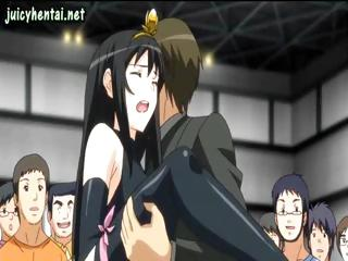 Porno Video of Brunette Anime Goes Out And Gets Her Pussy Drilled In Public